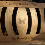 Classic 2 bench with butterfly resin inlay