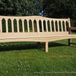 8ft Classic III memorial Bench