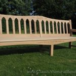 Large oak memorial bench