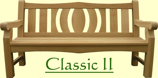 Picture showing that the name of this bench is Classic II