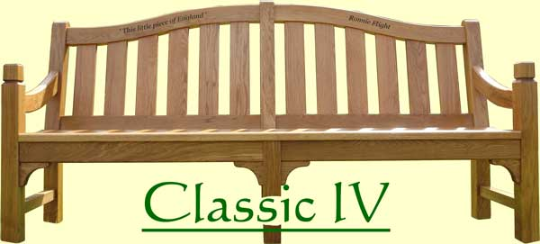 Picture showing that the name of this bench is Classic IV