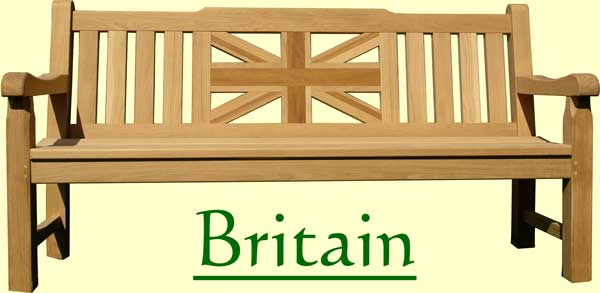 Picture showing that the name of this bench is Britain
