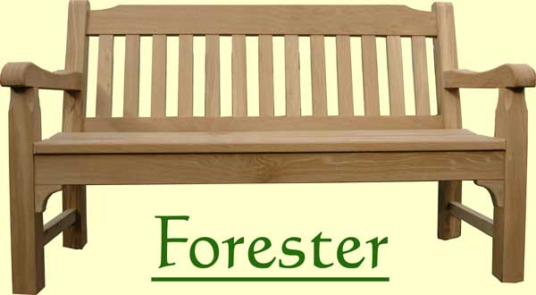 Picture showing that the name of this bench is Forester
