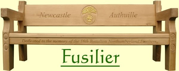 Picture showing that the name of this bench is Fusilier