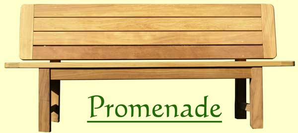 Picture showing that the name of this bench is Promenade