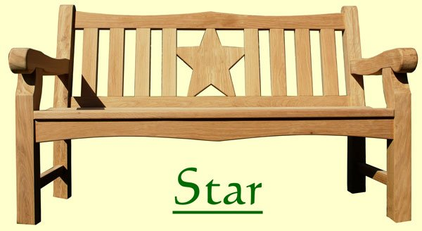 Picture showing that the name of this bench is Star
