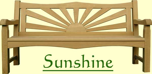 Picture showing that the name of this bench is Sunshine