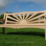 Sunshine bench in a garden