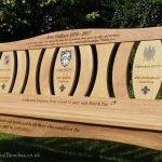 Three panel memorial bench