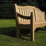 Classic IV memorial bench in oak