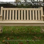 Bat arm memorial bench in Accoya wood