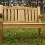 Woodsman memorial bench in Accoya wood