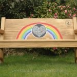 Classic NHS Rainbow Bench